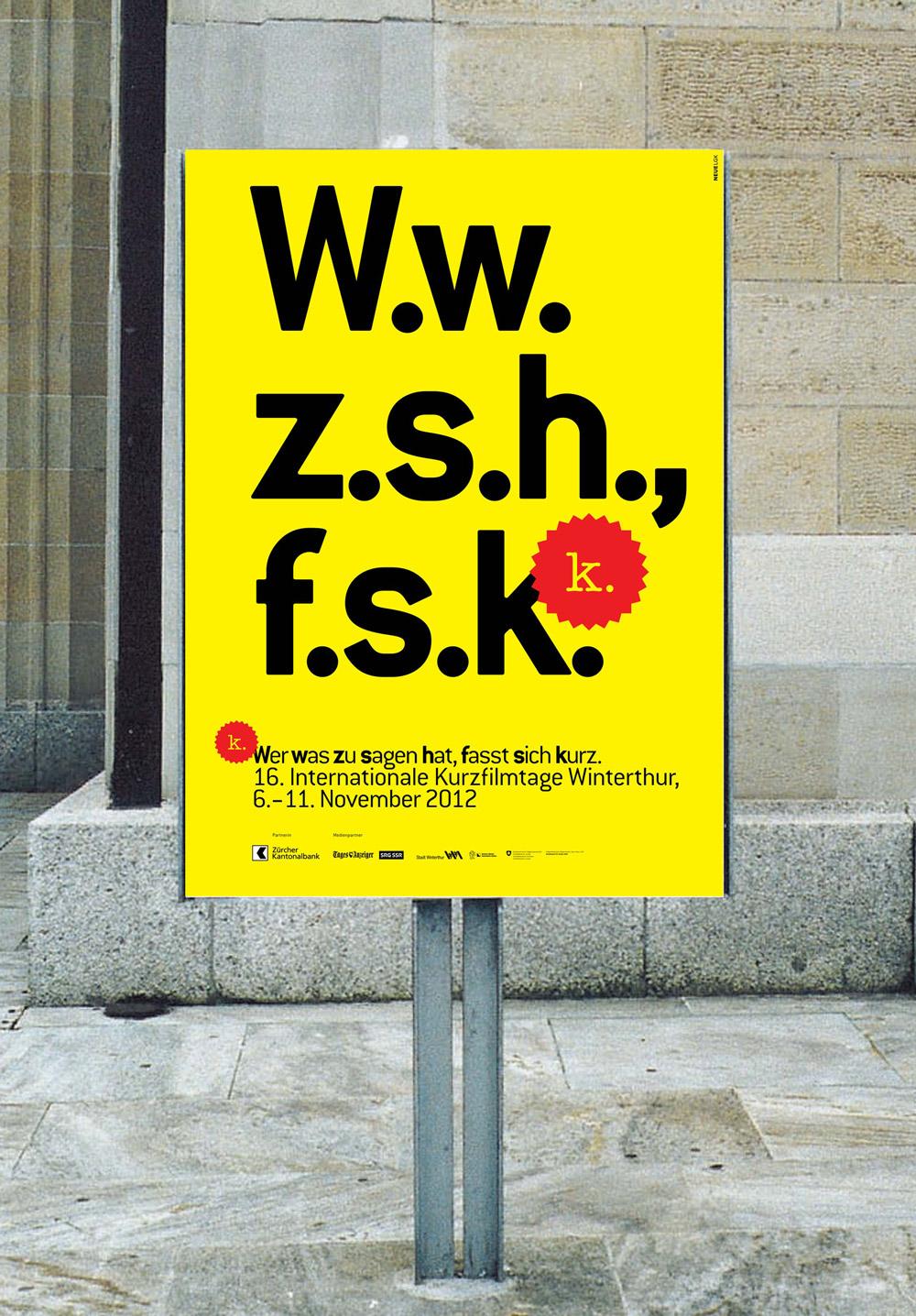 Int. Kurzfilmtage Winterthur